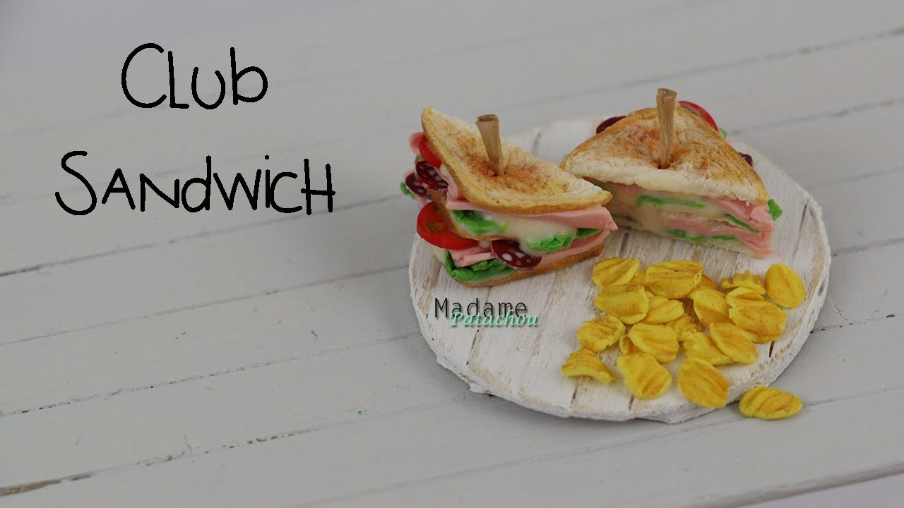 Club Sandwich Tutorial  (Tuto Fimo)