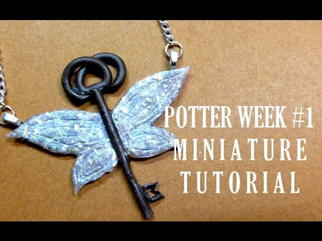 POTTER WEEK YWC #1 The Flying Old Key polymer clay tutorial