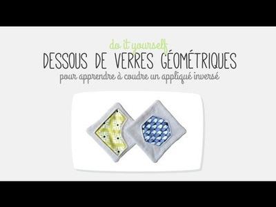 DIY #1 : Dessous de verres géométriques