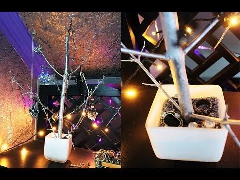 DIY Jewelry Tree   Arbre à bijoux   Decoration Idea