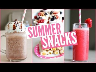 DIY   Snacks & boissons d'été - Summer snacks !