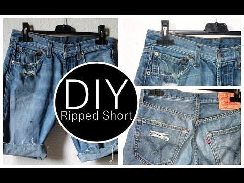 DIY : Transformer un jean en short. How to cut off your Jeans ?