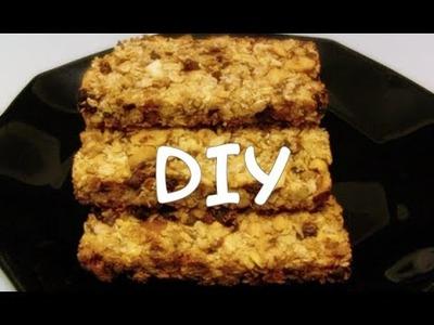Barres céréales hypocaloriques recette.DIY cereal bars