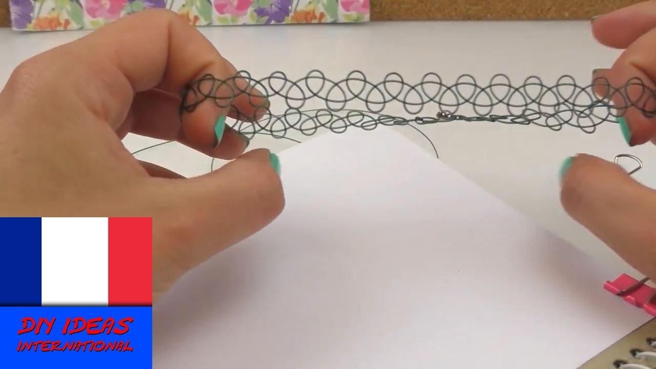 Collier chocker DIY facile à faire soi-même collier tatouage style années 90