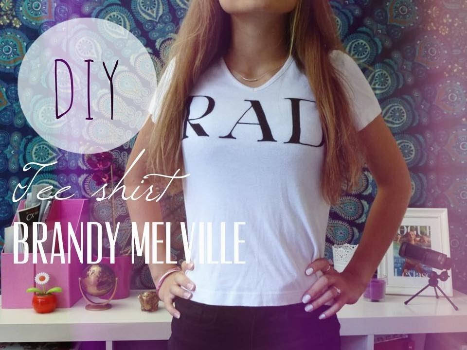 "[DIY] ✄ Tee-shirt ""RAD"" immitation brandy melville"
