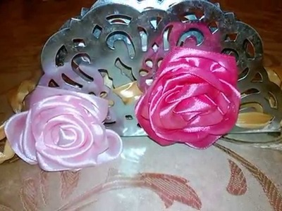 DIY Towel holder with ribbon flower