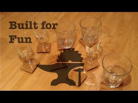 Built for Fun #15 Sous verres en chêne. DIY dessous de verre