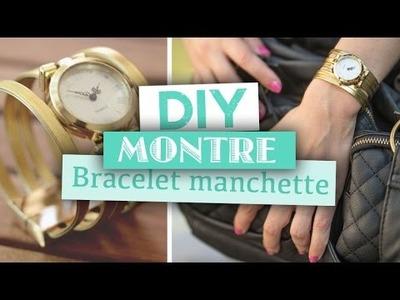 DIY. Bijoux. Créer une montre façon bracelet manchette
