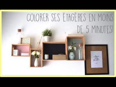 [diy] Colorer ses étagères - Zaïna -