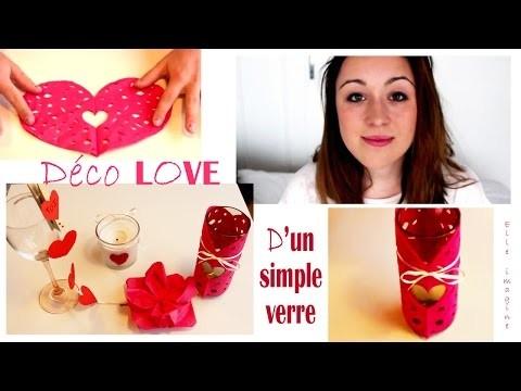 """❣✚ DIY, Déco LOVE d'un verre """"Déco, custo Saint Valentin"""""""