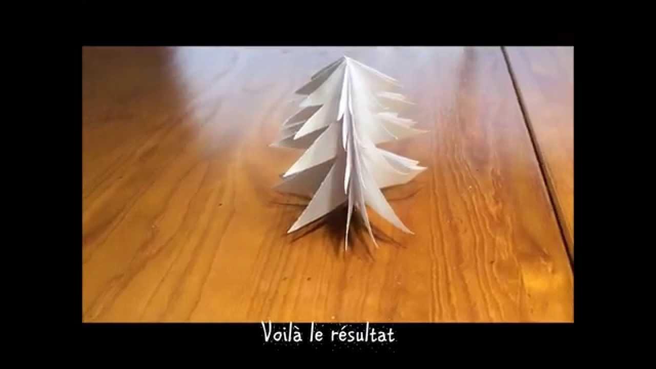 DIY décoration de noël | sapin en papier