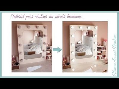 DIY Miroir lumineux maquillage pro - Vanity mirror with lights