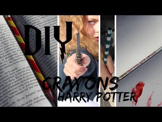 [HARRY POTTER DIY] Crayons baguette magique, maisons de poudlard, plume de Dolores Ombrage