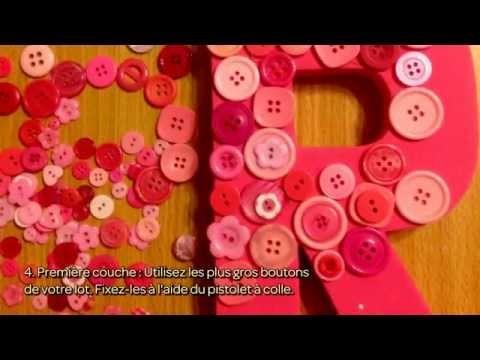 Customiser une lettre de décoration avec des boutons - DIY Maison - Guidecentral