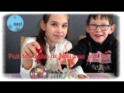 { DIY } Boules de Noël avec Cassie et Enzo