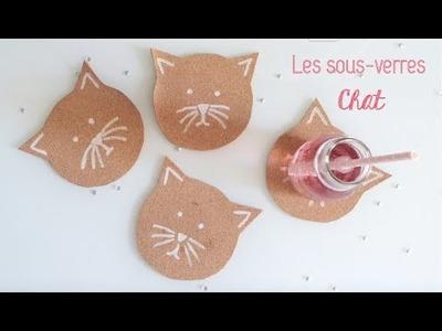 DIY Déco ♡ Les Sous-Verres Chat