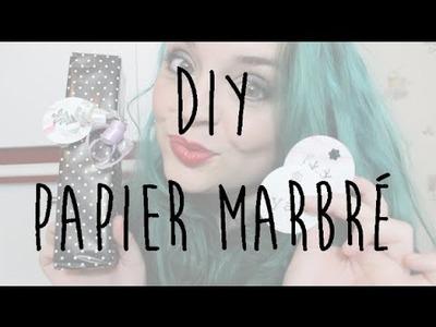 DIY ❄ Papier marbré & étiquettes pour Noël ❄ Marble gift tags ❄