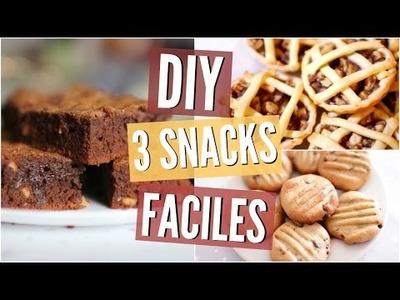 DIY Snacks | 3 Recettes FACILES !
