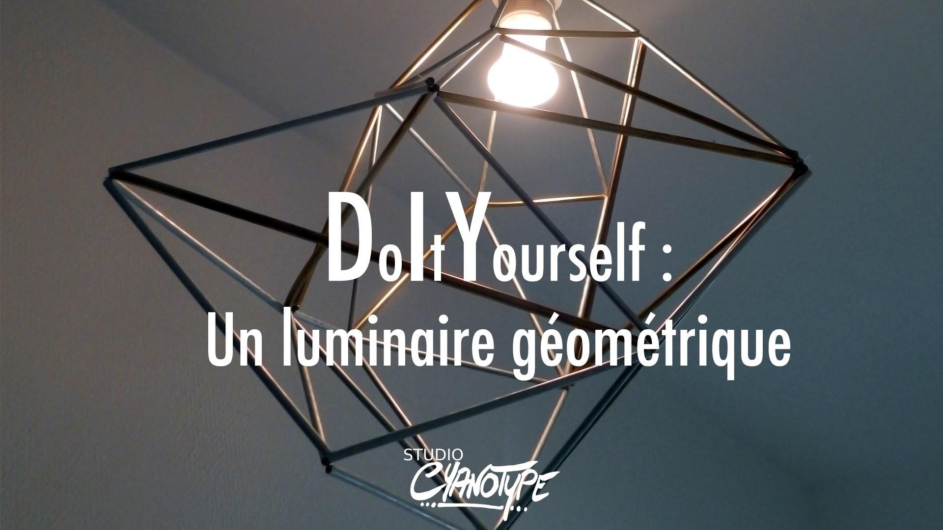 Tuto DIY : un luminaire géométrique métallique  | Studio Cyanotype