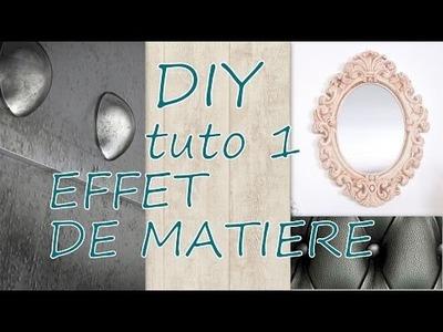 TUTO  EFFET PLATRE VIELLI (tuto n°1 des EFFETS DE MATIERE)#DIY DECO