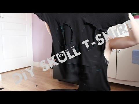 Candy Gun & Maggie Kreepsville - DIY skull t-shirt