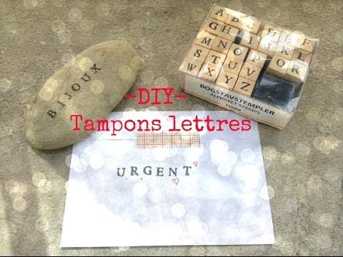 -DIY- 3 idées avec tes tampons lettres