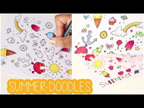 DIY # TUTO Comment réaliser des doodlings ? - Summer doodles