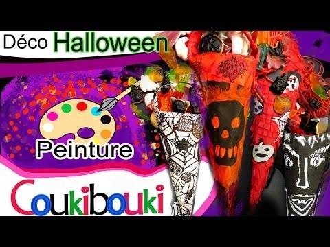 DIY décoration Halloween Paniers à bonbons d'Halloween 4 styles
