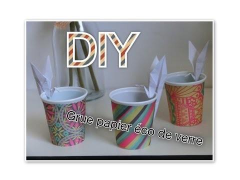 DIY : Grue en papier pour déco de verre (Tuto n°8)