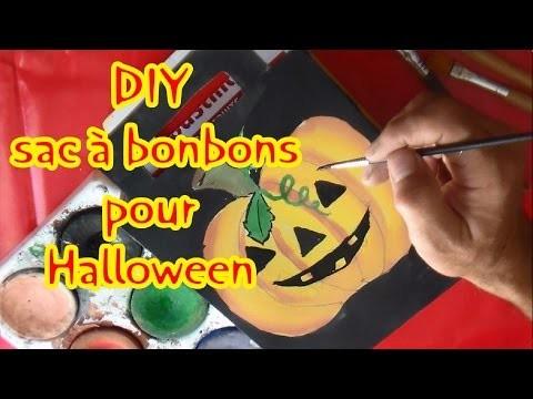 DIY halloween sac à bonbons | Activité manuelle enfants