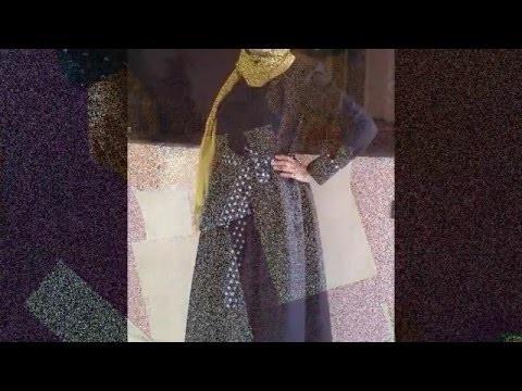 DIY Patron d'une robe d'automne. maxi dress free pattern