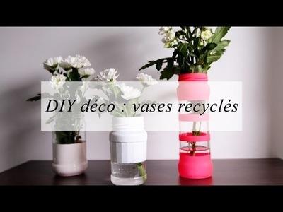 DIY déco : des vases recyclés