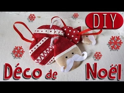 DIY : Décoration de Noël # 1 - Père Noël à moustache et boule de Noël