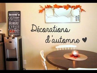 Décorations d'automne ♡ DIY