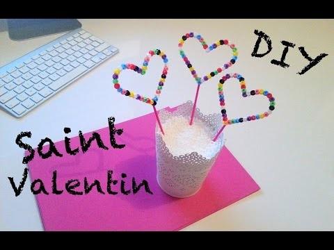 ♡ DIY Déco Saint Valentin avec des perles à repasser