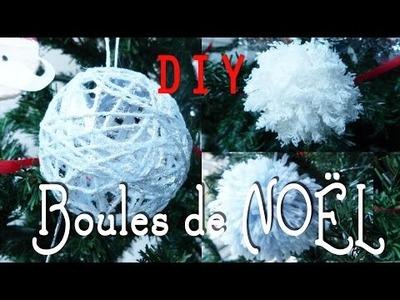 DIY : Décoration de Noël # 3 - Boules de Noël et pompons de laine