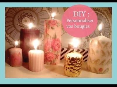 ✿ DIY idée déco : Personnaliser vos bougies ✿