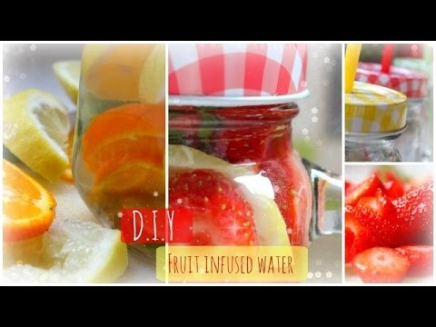 D.I.Y l Fruit infused water ♡