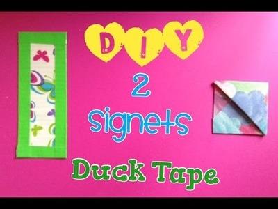 DIY 2 signets fait avec du Duck Tape