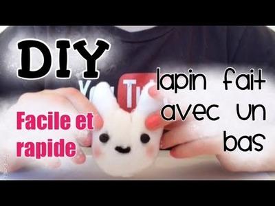 DIY lapin fait avec un bas facile et rapide