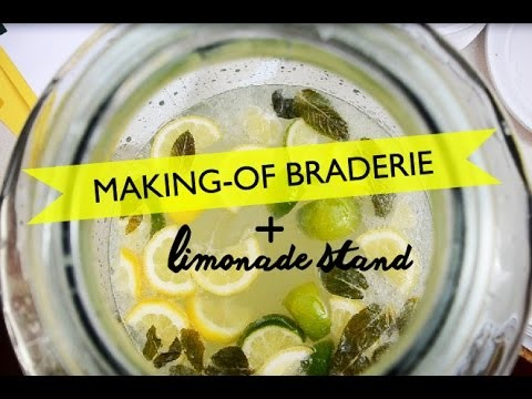 MAKING-OF d'une braderie + DIY limonade stand
