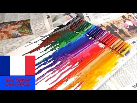 DIY craies grasses à fondre   Beau tableau très simple à faire à base de craies grasses  fraçais