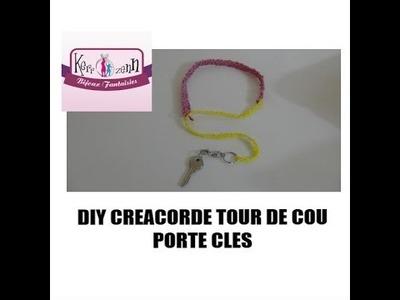 DIY CREACORDE TOUR DE COU PORTE CLE back to school