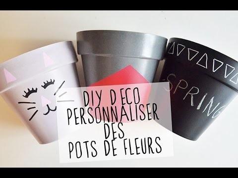 DIY DÉCO : personnaliser des pots de fleurs