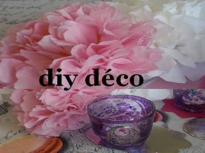 Diy Déco table fleur et lanternes à faire sois même