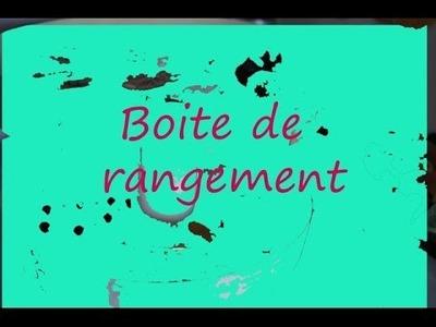 -DIY français- boite de rangement