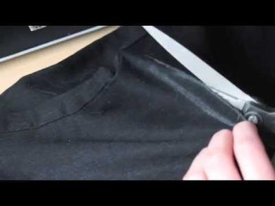 DIY: jeans troué aux genoux. Ripped knee jeans