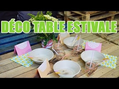 Créer une Deco de table estivale - DIY par youMAKEfashion