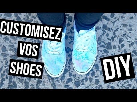 DIY ♡ Customiser vos chaussures I Tie Dye Shoes I DIY Français