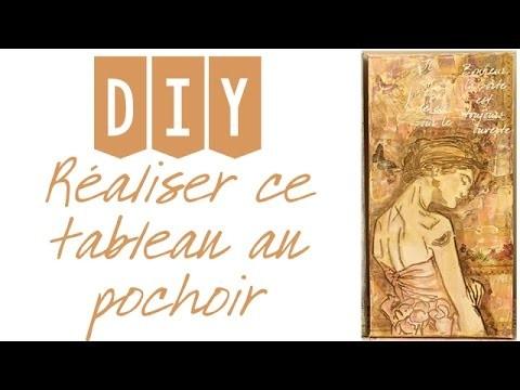 DIY TABLEAU AU POCHOIR